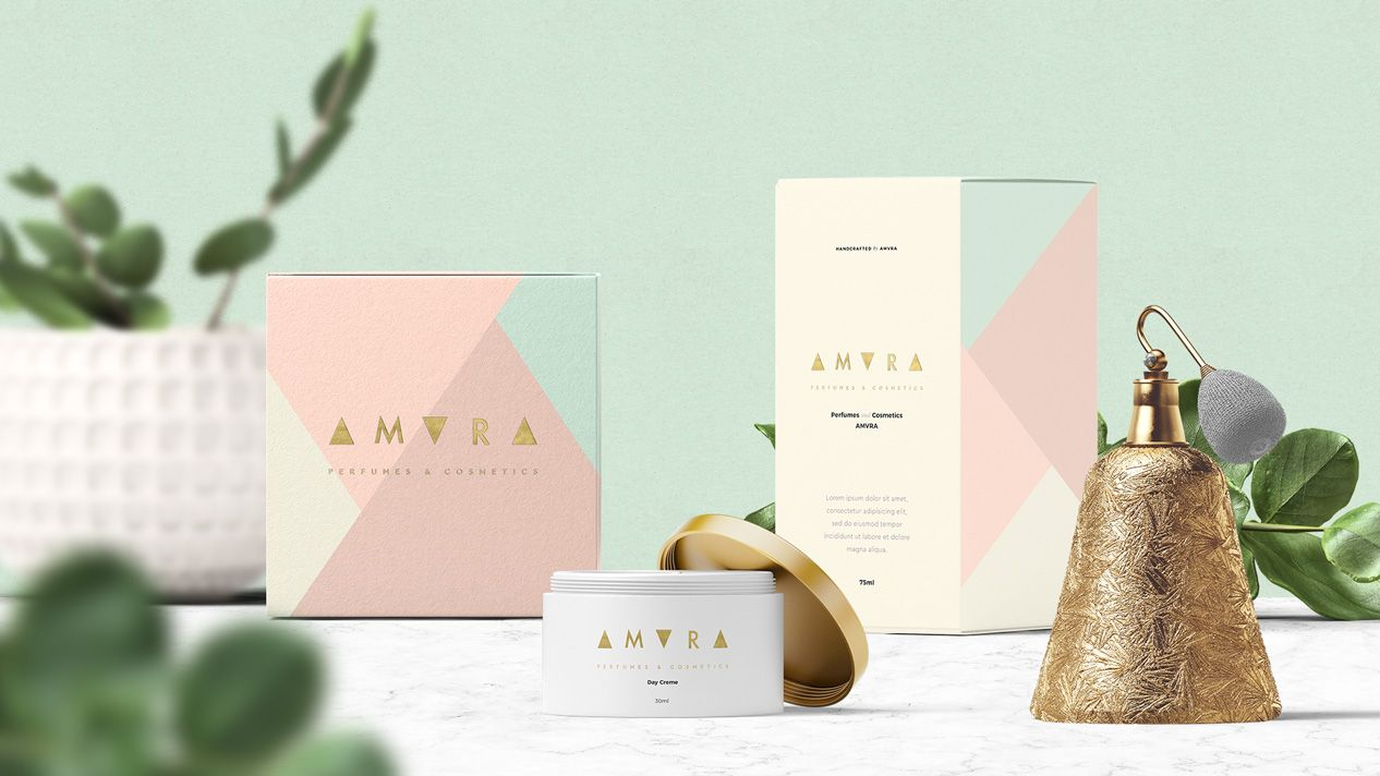 Logo Packaging Branding Perfumes Cosmetics Amvra