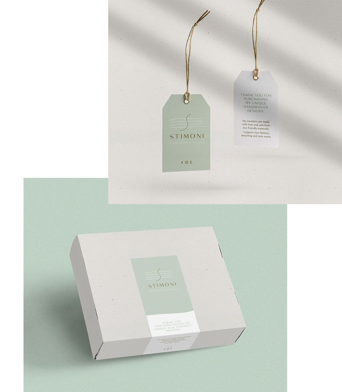 Stimoni Branding Tags Box Sticker